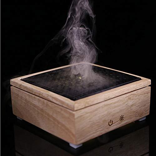 TUIXINZHIFU Caja Cuadrada Estilo Chino máquina de aromaterapia de Grano de Madera Mini humidificador casero Luces de Colores