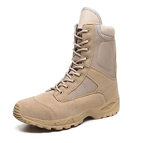 Hombres de cuero táctico ejército botas hombres correa de tobillo negro más tamaño zapatos de trabajo combate botas militares