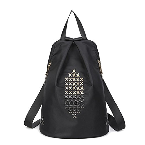Léger Oxford voyage sac à dos dames loisirs shopping Dating mode rivet Pack sac , style 2