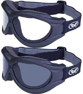 Global Vision Big Ben Goggles 2 Pairs Black Frames 1 Clear Lens 1 Smoke Lens