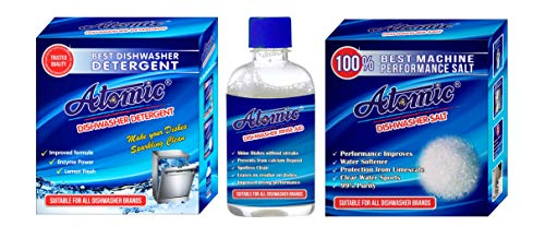 ATOMIC Dishwasher Starter Combo Pack for Dishwasher gives best finish cleaning to Crockery. Tested by APCL LONDON