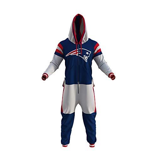 New England Patriots NFL Adult Onesie (Medium) Blue
