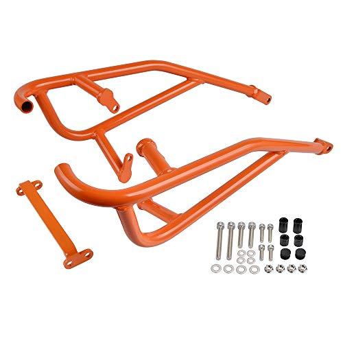 Repuestos Powersports Barras de acero tubular Crash Motor Protector For KTM 790 Duke 2018 2019 2020 Accesorios de motos Piezas (Color : Orange)