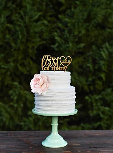 Eerste verjaardag Cake Topper, 1 jaar verjaardag Cake Topper, Custom Cake Topper, verjaardagscadeau voor vrouw, verjaardagscadeau voor man
