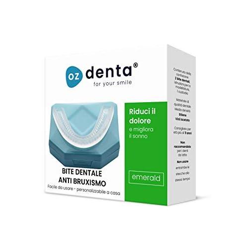 2x OzDenta Bite Dentale Notturno Automodellante. Apparecchio anti Bruxismo - anti Digrignamento dei denti e disturbi dell' ATM