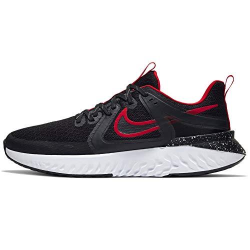 Nike Legend React 2, Zapatillas de Running para Hombre, Black/Black/University Red/White, 40.5 EU