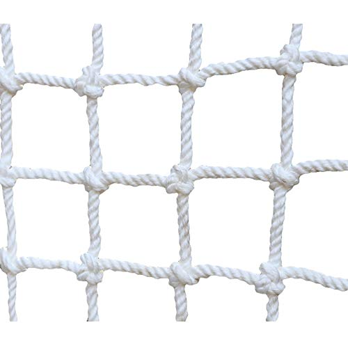Children's Climbing Net, Balcony Safety Protection Net, Wall Protective Net for Outdoor Mountaineering Sport Development Training, Garden, Indoor Decoration Rope Net,6mm(15/64),5×5m(16.4*16.4ft)