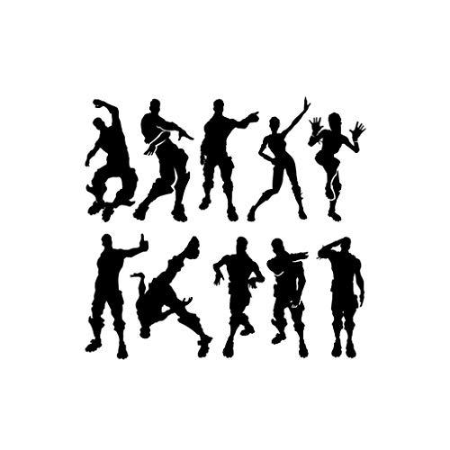 AMWFF Etiqueta Engomada Del Doodle Del Personaje De Acción Juego De La Noche Fuerte Etiqueta De La Pared A Prueba De Agua Nach Maß PVC Wandtattoo Wandsticker Set Zum