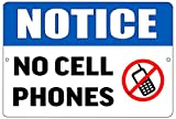 Notice Warning No Cell Phone Allowed Metal Tin Sign Business Retail Store Home Large Restaurant Bar Office Hotel