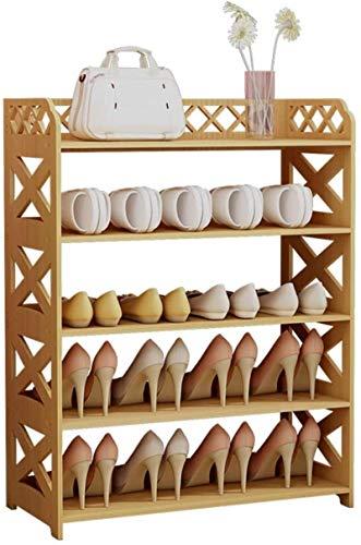 Ranuras de Zapato Ajustables Organizador Bastidores de Zapatos Zapato de Zapatos Rack Easy Assembly Hogo 5 Capa Cabina de Zapatos Multifuncional Economía Zapato Rack Ahorre Espacio Alto 80 cm × Ancho