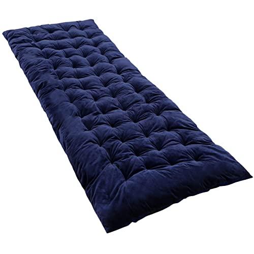 REDCAMP Colchón XL para cama de camping, suave y cómodo algodón grueso para dormir, 190 x 75 cm, azul marino
