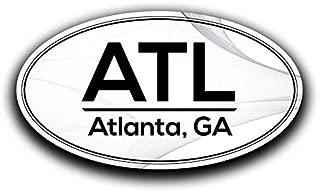 More Shiz ATL Atlanta Georgia Airport Code Decal Sticker Home Travel Car Truck Van Bumper Window Laptop Cup Wall - Two 5.5 Inch Decals - MKS0541