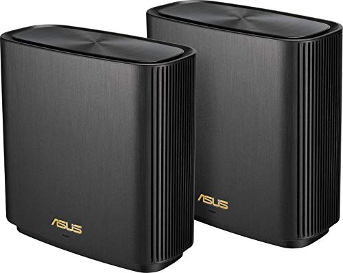 ASUS ZenWifi XT8 - Sistema Wi-Fi 6 Mesh Tri-Banda AX6600, Pack de 2 (Cobertura de más 510m2, AiProtection con TrendMicro, puerto WAN/LAN 2,5 Gigabit, 3 puertos LAN Gigabit, QoS, compatible AiMesh)