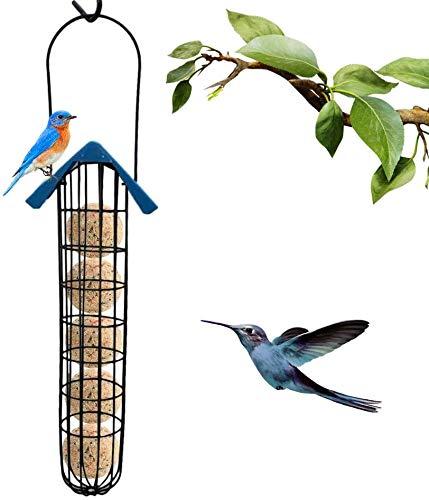 JFZCBXD Vogelfutterspender, Edelstahl Fat Kugelhalter Extended Version Erdnuss Feeder Bird Feeder Hängen, Füttern Werkzeug für Vögel