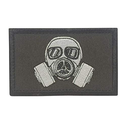 COBRA Tactical Solutions Maschera a Gas Biohazard Ricamata Toppa militare Patch Gancio e Anello per Airsoft Paintball, per Abbigliamento tattico Zaino