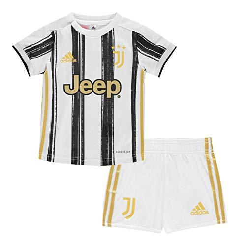 adidas Juventus FC Stagione 2020/21 Juve H Baby Minicompleto Baby Prima Divisa Unisex Adulto, Unisex - Adulto, Mini Set per la Prima Partita, Bianco/Nero, 80