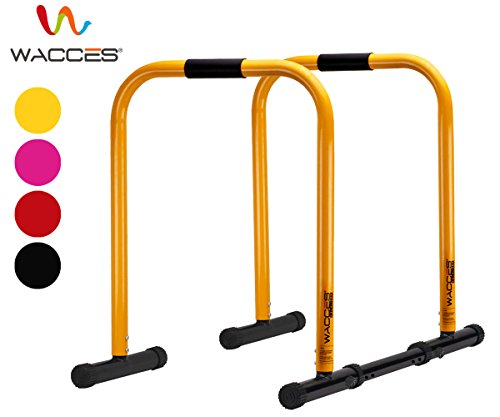 Wacces Heavy Duty Functional Fitness Station Stabilizer Dip Stands - Orange