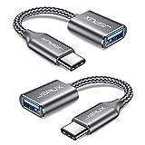 JSAUX Adaptateur USB C vers USB 3.1 [Lot de 2] Câble OTG USB Type C Mâle vers USB A Femelle...