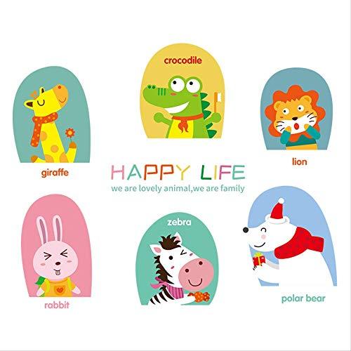 Children'S Room Wall Decoration Bedside Cartoon Animal Wallpaper Sticker Kindergarten Early Teach English Word Wall Sticker