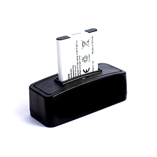 roxs bateria + estacion de bateria para carga para Olympus SP-810UZ