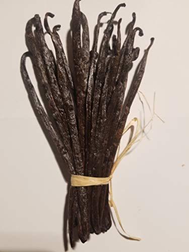 20 gousses de vanille naturelle TK noire non fendues de Madagascar 14/ 16 cm