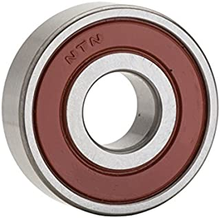 NTN Bearing 6205LB Single Row Deep Groove Radial Ball Bearing, Non-Contact, Normal Clearance, Steel Cage, 25 mm Bore ID, 52 mm OD, 15 mm Width, Single Seal