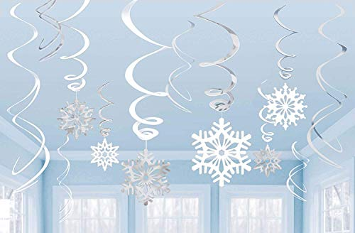 Snowflake Value Pack Swirl Decoration /12