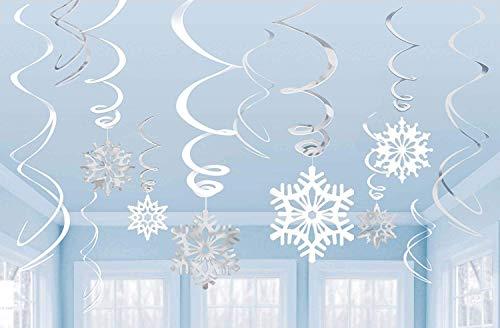 Snowflake Value Pack Swirl Decoration /12