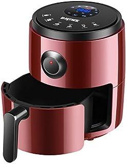 PLEASUR Friteuse à air Domestique 3.2L Grande capacité friteuse électrique sans Huile friteuse friteuse Intelligente, Rouge