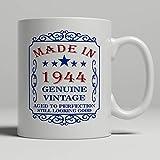 Taza blanca de la novedad de 11 onzas, taza de cumpleaños 75 h regalo de cumpleaños divertido taza de café de cerámica regalos de Navidad para hombres Woemn