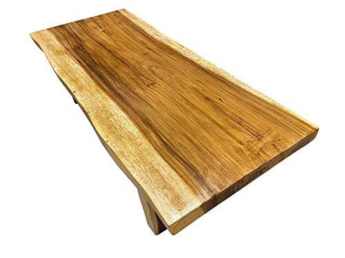 Asiatika-Online.de Couchtisch Baumscheibe Massivholz Suar Tischplatte Baumstamm Natur 149x60x40