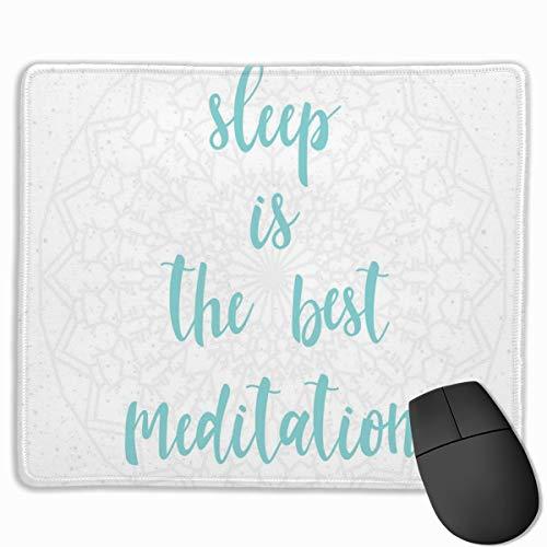 HUAYEXI Alfombrilla Raton Ordenador,El sueño es la Mejor caligrafía de meditación con un Fondo de Motivo de Mandala Suave,Alfombrilla Gaming Base de Goma Antideslizante