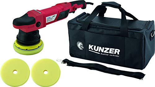 KUNZER 7PME15 - Exzenter-Poliermaschine 950W inkl. 125mm Klettteller, 2 Schwammaufsätzen, Tasche mit Bügel- / Haltegriff