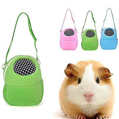 Tammy Yerkes Cotton Pet Carrier Rabbit Portable Shoulder Bag Cage Hamster Chinchilla Travel Warm Bags Cages Guinea Pig Carry Outgoing Pouch Mesh Breathable Safety by Tammy Yerkes