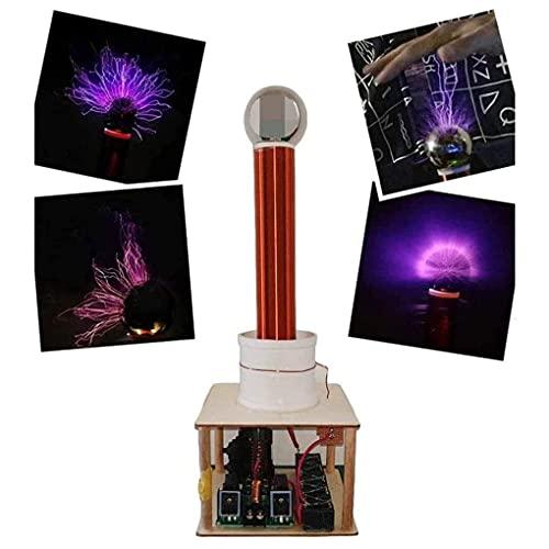 EWGAO Música Tesla Kit de Bobina Transmisión de Electricidad inalámbrica Play Toca Tecnología DIY para Hacer Que el generador de Rayos Artificiales