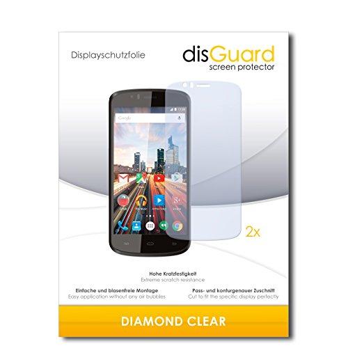 disGuard 2 x Bildschirmschutzfolie Archos 50e Helium Schutzfolie Folie DiamondClear unsichtbar
