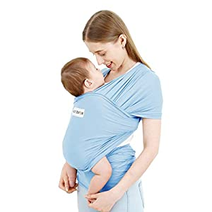 Acrabros Baby Wrap Carrier,Hands Free Baby Carrier Sling,Lightweight,Breathable,Softness,Perfect for Newborn Infants and Babies Shower Gift