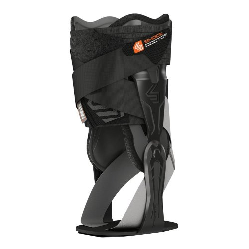 Shock Doctor V-Flex Ankle XT Brace for Right Ankle, Black, Medium