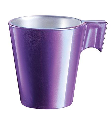 Luminarc 8010151luminarc-8010151-lot de 6Tazas Expresso 8Cl Purple, Vidrio, púrpura, 7,5x 5,7x 6,5cm