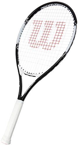 Wilson Roger Federer Aluminum Tennis Racket - 26 Inch (Black/White)