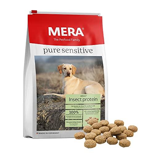 MERA Pure Sensitive Hundefutter, mit Insekten-Protein, Trockenfutter für Sensible Hunde, hypoallergen & umweltfreundlich – Single Protein Futter