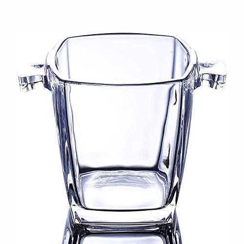 Cubiteras Ice Bucket para Interior y Exterior Cubo de hielo, cristal cubo de hielo, Cocktail Bar Champagne cubo de hielo Cubo Cubo Cuarteto cubo de hielo cubo de hielo del camarero, inferior grueso -