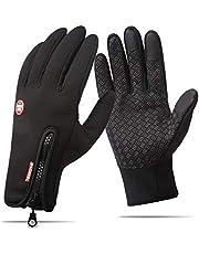 Touchsceen fleece isolerade handskar, termiska vindtäta snötäta varma handskar vintersport skidåkning snowboard ridning motorcykel vantar vandring camping körhandskar