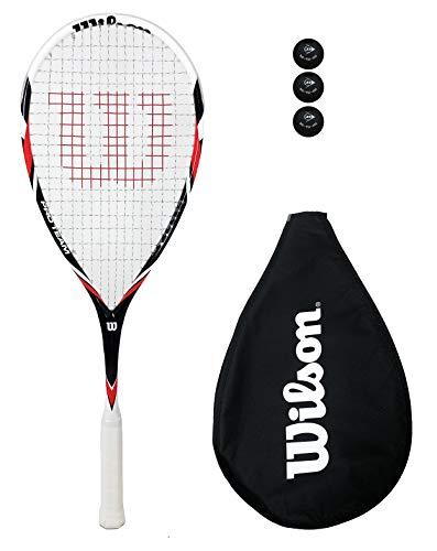 Wilson Pro Team - Raqueta de squash + pelotas (varias opciones) (rojo)