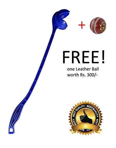 FERVOR SPEL® Plastic Full Size Sidearm Pro Crciket Ball Thrower, Standard with One Leather Ball - Multicolor