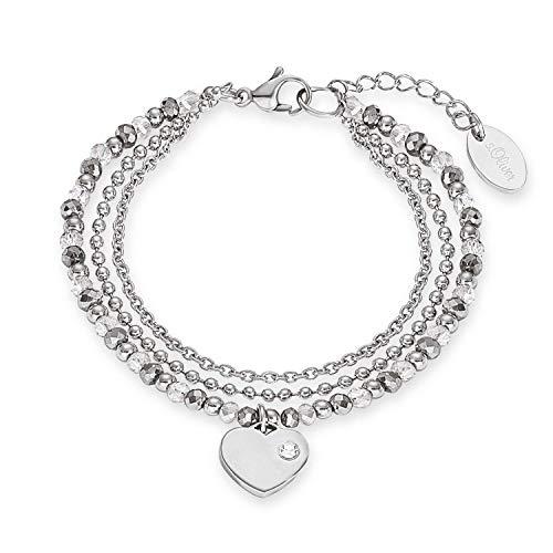 s.Oliver Armband für Damen Herz, Edelstahl