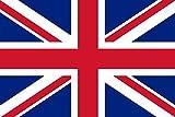 Michael & Rene Pflüger Barmstedt - 8,4x5,4 cm - Premium Aufkleber Fahne/Flagge von Grossbritannien UK GB Union Jack Sticker Auto Motorrad Autoaufkleber