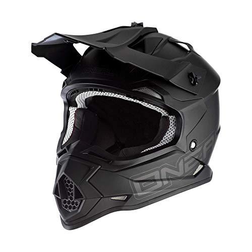 O'NEAL | Motocross-Helm | MX Enduro | ABS Schale, Lüftungsöffnungen für optimale Belüftung & Kühlung, erfüllt Sicherheitsnormen DOT & ECE 22.05 | 2SRS Youth Helmet Flat | Kinder | Schwarz | Größe S