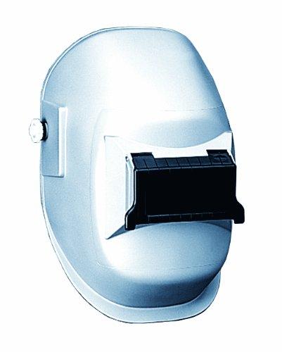 Sellstrom Lightweight, Super Tuff Nylon Shell and Rachet Headgear Welding Helmet with 4-1/4' x 2' Sel-Snap Lift Front, Silver Coated, S29311