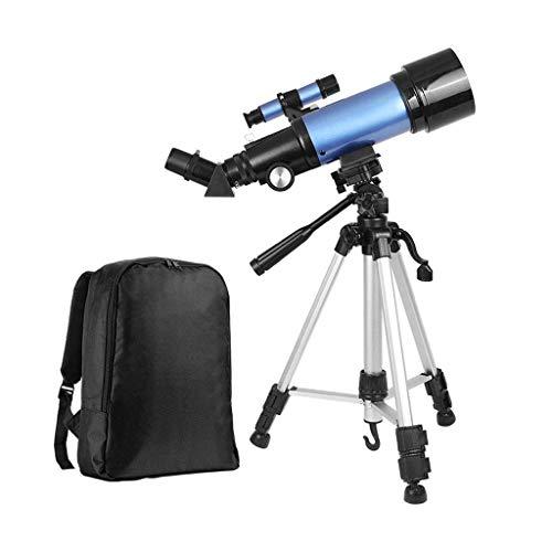 Telescopios astronómicos, telescopio monocular de viaje, alcance de 70 mm de apertura, 400 mm, telescopios refractores astronómicos para niños, adultos, principiantes, con trípode y bolsa de trans